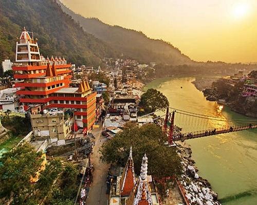 Rishikesh yoga city India Gange River valley Ganga Uttarakhand Domestic package