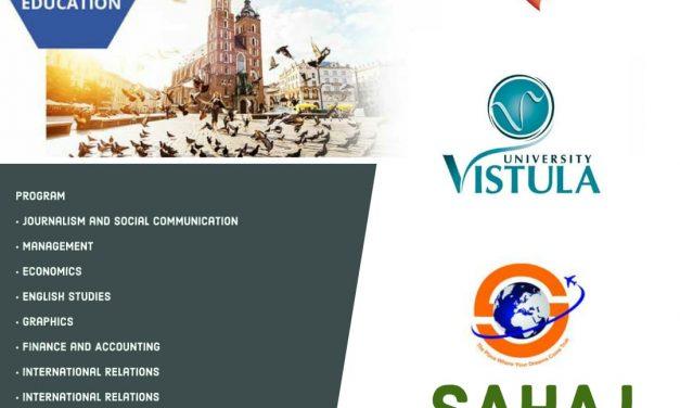 Apply in Vistula Group of University, Poland.