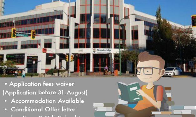 Apply studies in Alexander College